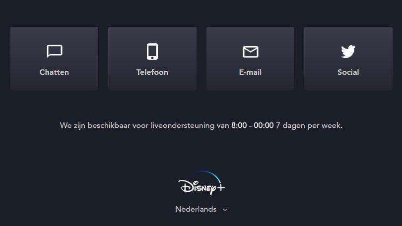 Contact Disney+