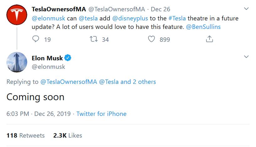 Tesla Disney+