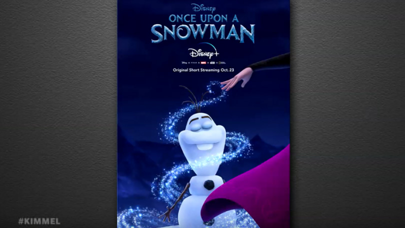 Olaf Frozen Once Upon a Snowman